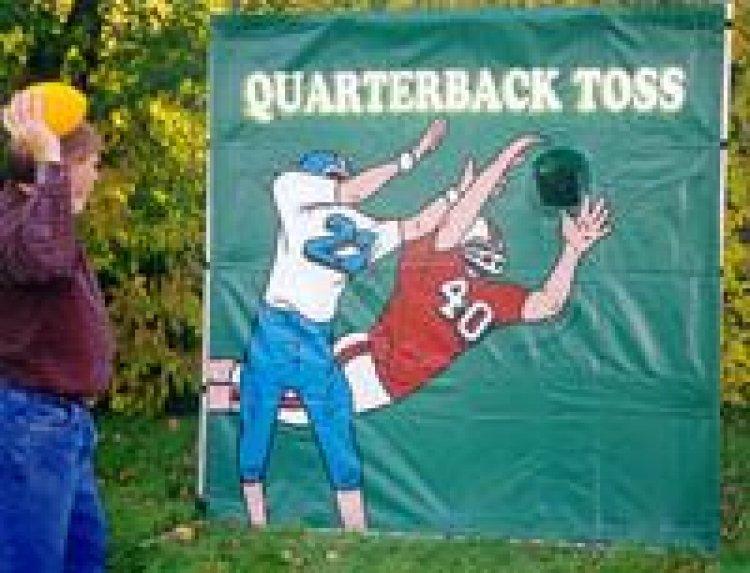 Framed Football Toss