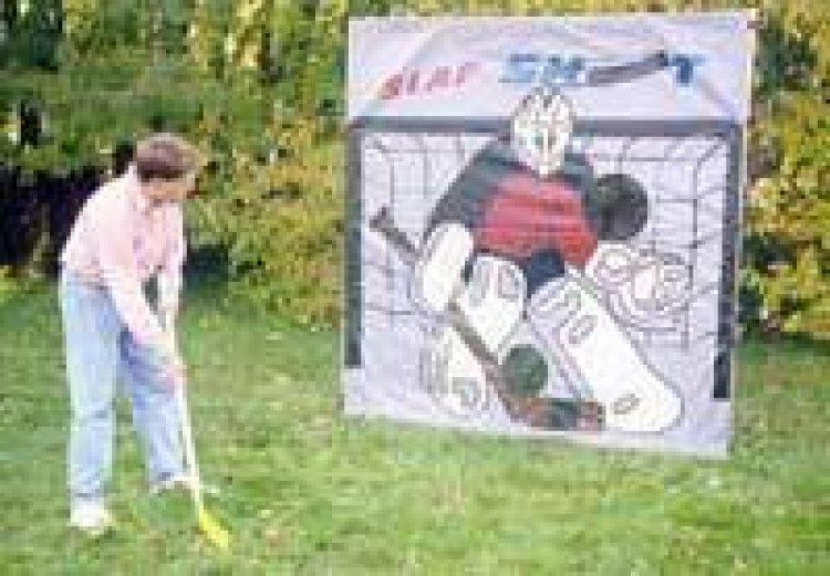 Framed Hockey Slap Shot